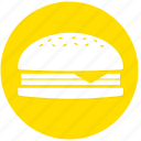 burger, cheese burger, fast food, food icon