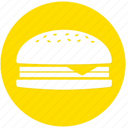 burger, cheese burger, fast food, food icon