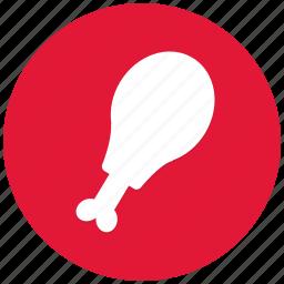 bone, chicken drumstick, chiken, drumstick, fast food, food icon