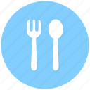 food, fork, forkspoon, lunch, restaurant, spoon icon