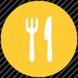 food, fork, frokknife, knife, lunch, restaurant icon