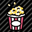cinema, food, pop corn, snack, theater icon