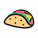 food, tacos, vegetable, cheese icon