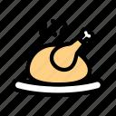 leg, meal, kitchen, chicken, restaurant, food, cooking