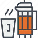 beverage, coffee, drink, hot, restaurant, service, tea icon