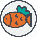 fish, food, grill, steak icon