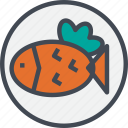 fish, food, grill, steak icon