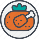 chicken, food, grilled, restaurant, service icon
