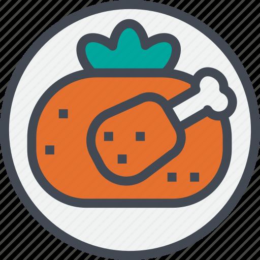 chicken, food, grilled, restaurant, service icon
