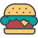 food, hamburger, restaurant, service icon