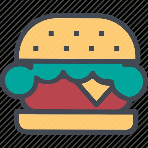 food, hamburger, restaurant, service icon