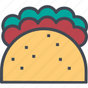 food, restaurant, service, soft, taco, tacos icon