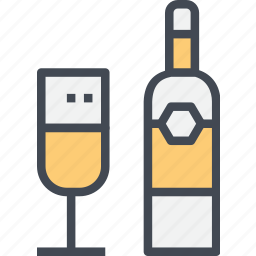 beverage, champagne, drink, restaurant, service icon