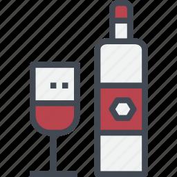 beverage, drink, red, restaurant, service, wine icon
