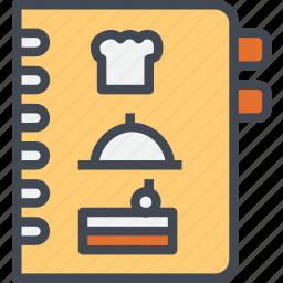 beverage, book, menu, restaurant, service icon