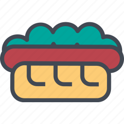 dog, food, hot, restaurant, service icon