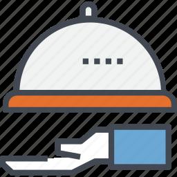 hand, restaurant, service icon