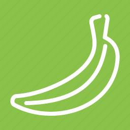 bananas, eat, food, fruit, healthy, natural, peel icon