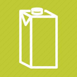 breakfast, coffee, container, dairy, liquid, milk, milk box icon