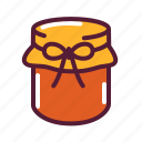 jam, jar, mason icon