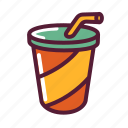 beverage, cup, drink, juice, soda icon