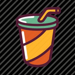 beverage, cup, drink, juice, soda icon