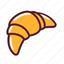 croissant, pastery icon