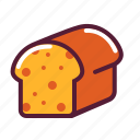 bread, loaf, slice icon