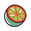 grapefruit, lemon, lime, orange icon