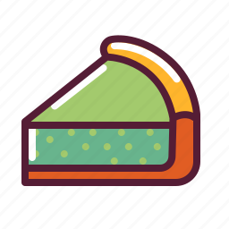 lemon, pie, slice icon