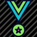 award, emblem, football, medal, victory icon