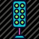 football, light, stadium, stadium lights, tower icon