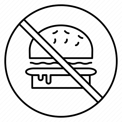 banned, block, burger, notallowed, stop icon