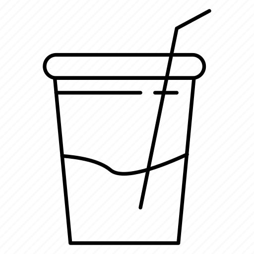 cup, drink, glass, juice, soda icon