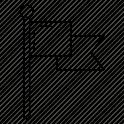 corner, flag, game, ground, sport icon