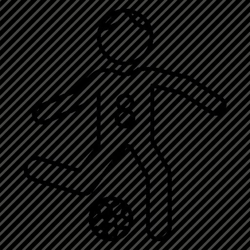 football, kick, player, playing, soccer icon