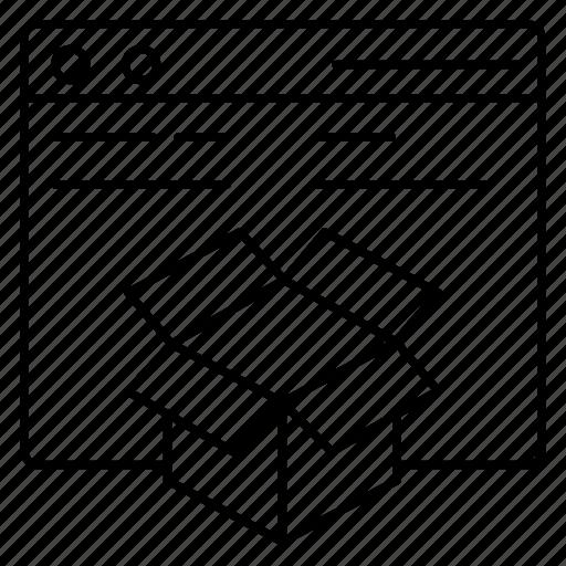 box, delivery, internet, parcel, webpage icon
