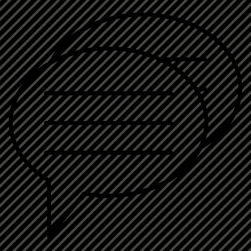 Conversation, discussion, bubble, message, chat icon
