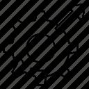arrow, configure, gear, pointer, setting