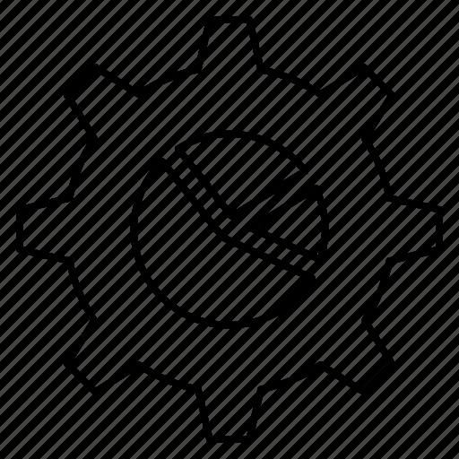 chart, graph, pie, seo, setting icon