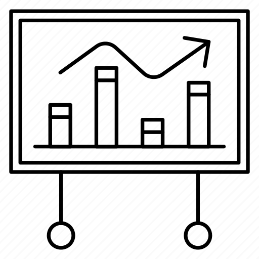 board, chart, graph, growth, presentation icon
