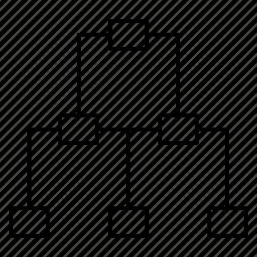 connection, diagram, hierarchy, network, workflow icon