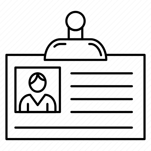 account, card, employee, identity, profile icon