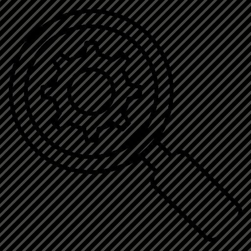 glass, magnifier, optimization, search, seo icon
