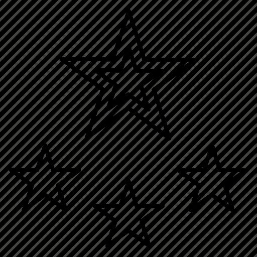 achievement, feedback, grade, rank, star icon