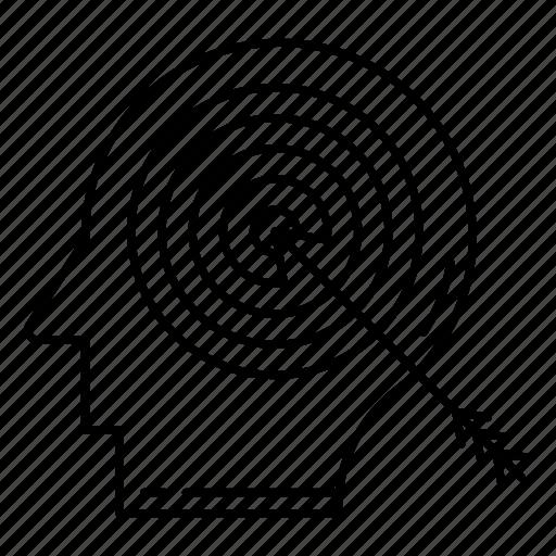aim, focus, goal, mind, target icon