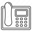 fax, landline, phone, receiver, telephone icon