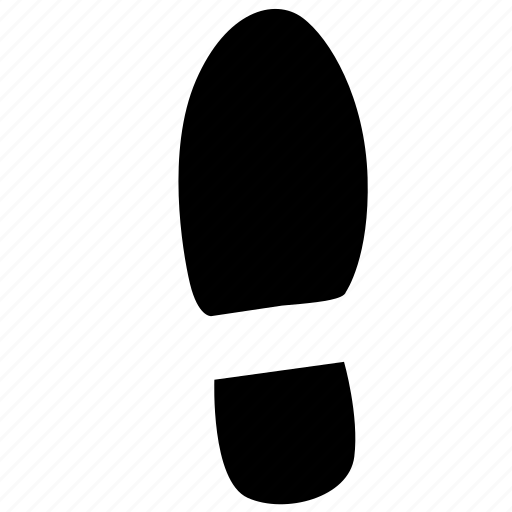 foot, footstep, left, shoe icon