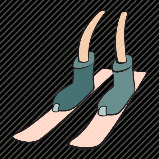 foot, footwear, human, leg, run, shoe, skiing icon