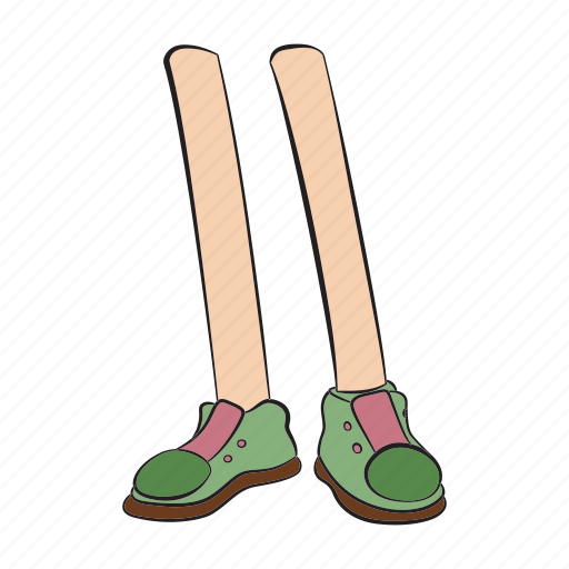 foot, footwear, human, leg, run, shoe, stand icon
